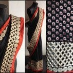 Black cutwork saree by NVY studio