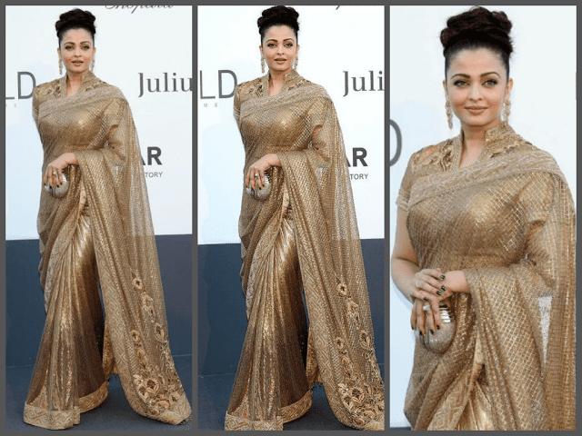 aishwarya rai shines in gold cannes