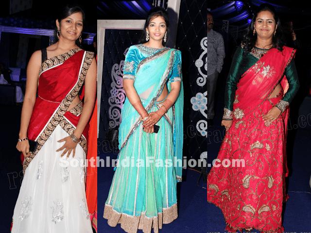 half sarees wedding