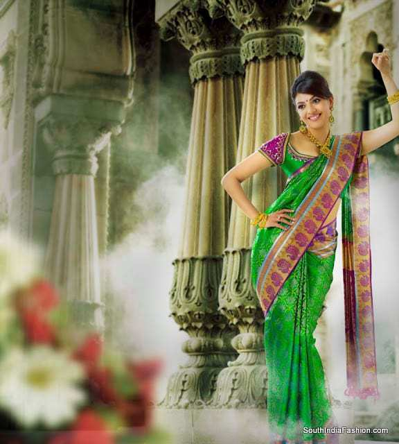 Kajal Agarwal in Bridal saree