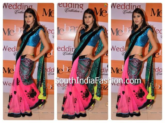 model saree