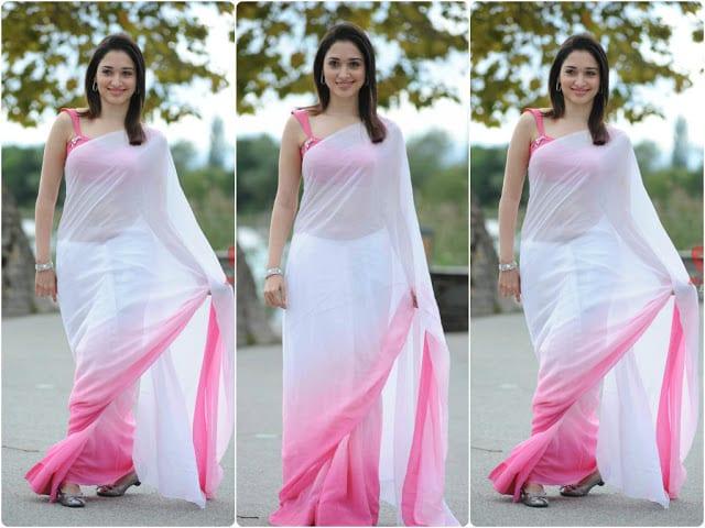 tamanna plain saree
