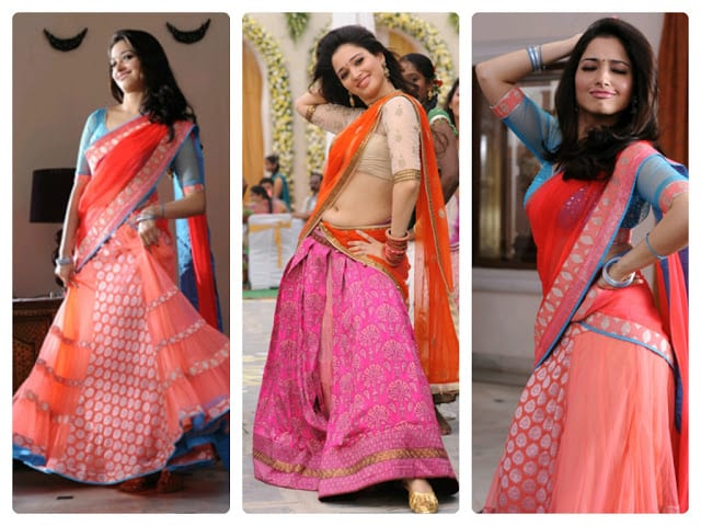 Tamanna In Tadakha Halfsaree: South India Fashion