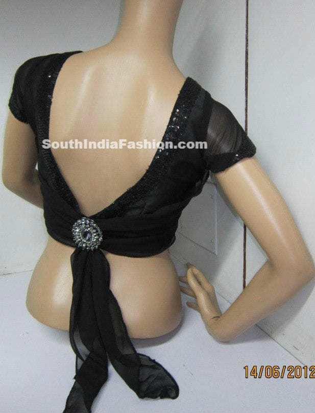 fashionable saree blouse � south india fashion