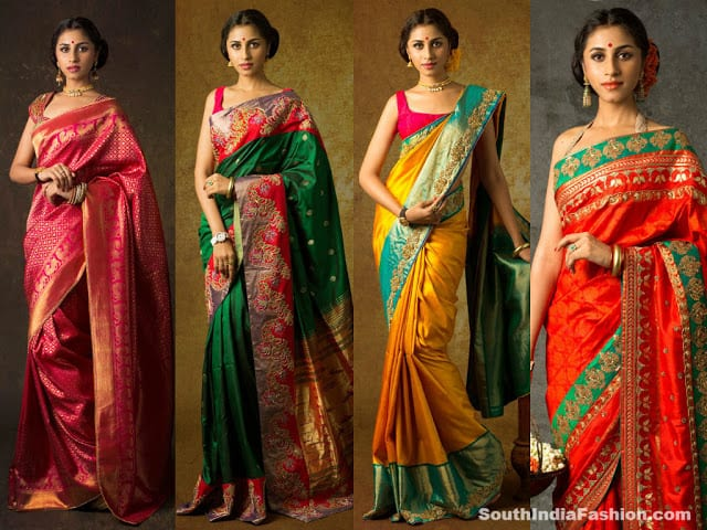 bhargavi kunam yuvarani collection sarees