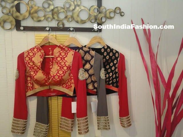 collar neck saree blouse1