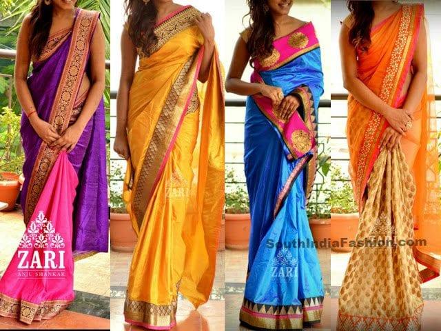designer sarees zari