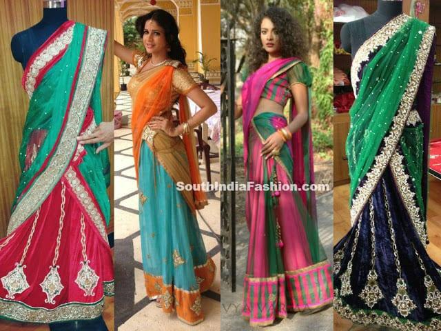 designer south indian half sarees