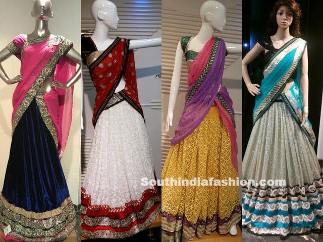 Designer Half Sarees By Kashish Hyderabad South India Fashion