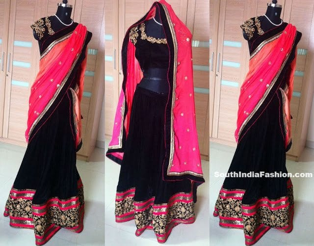tansi couture bridal half saree