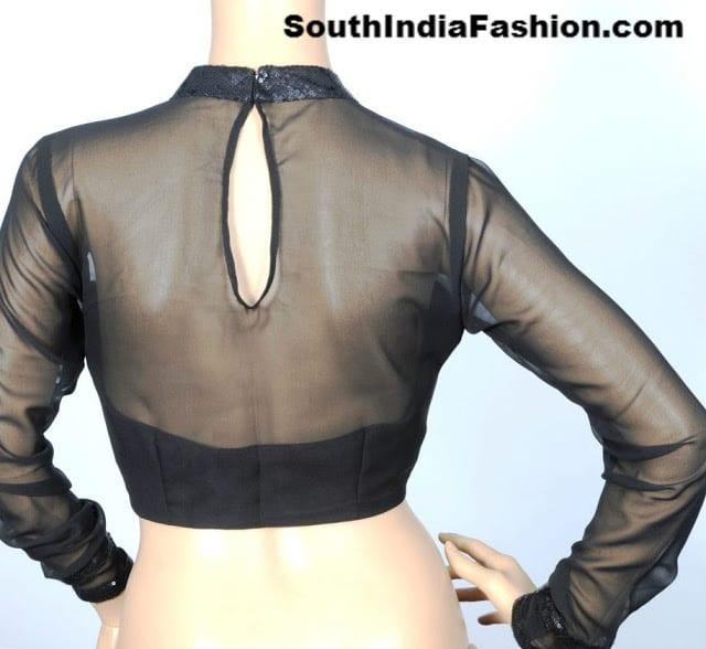 back neck net blouse