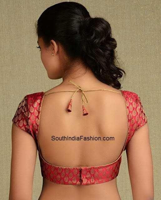 backless saree blouse 3