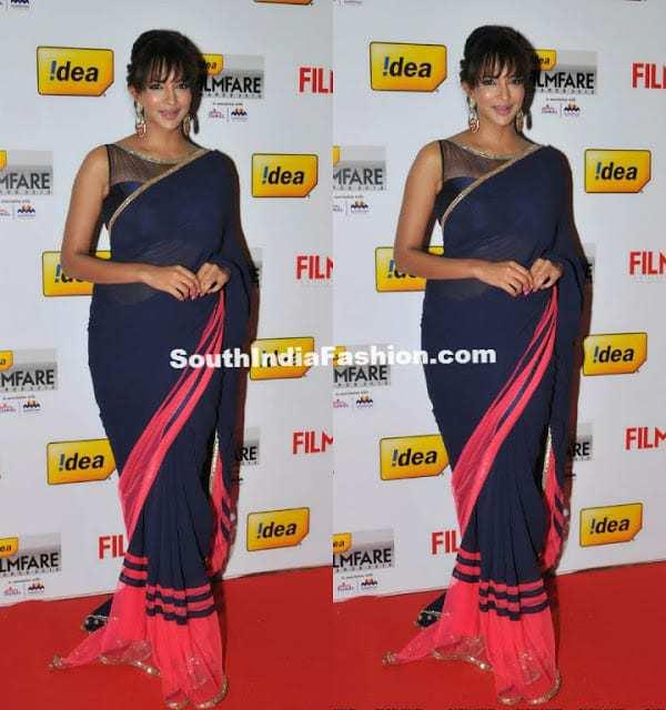 manchu lakshmi saree black