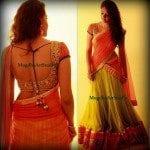 Stunning Half Saree by Mugdha Art Studio