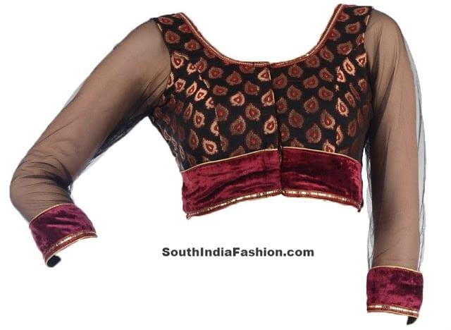 net sleeves blouse