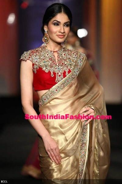 saree blouse red