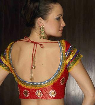 saree blouse back neck designs �south india fashion