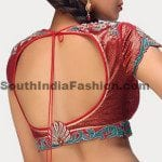 Backless Saree Blouse Designs