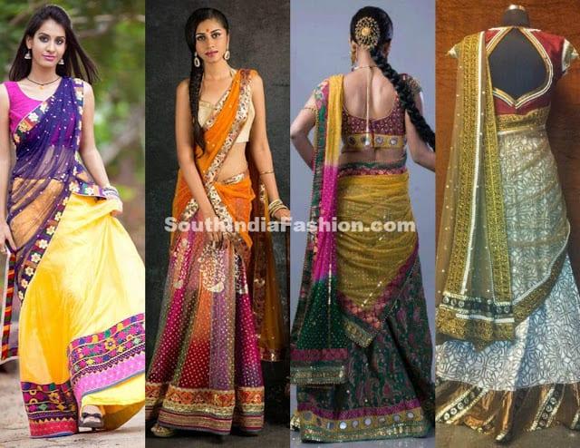 bhargavi kundam half saree designs