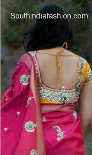 bridal stone work blouse