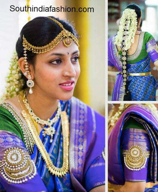 Bridal Saree Blouse Designs by Golden Threads