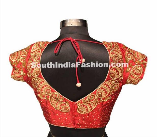 bridal saree blouse pattern