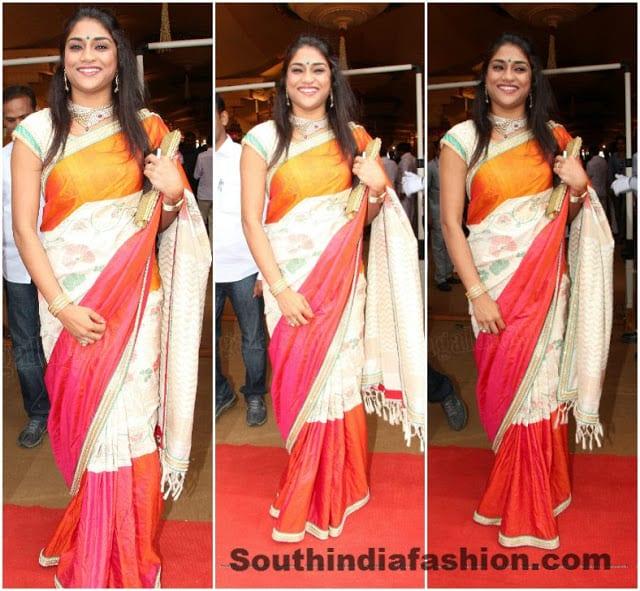 celebrity silk saree