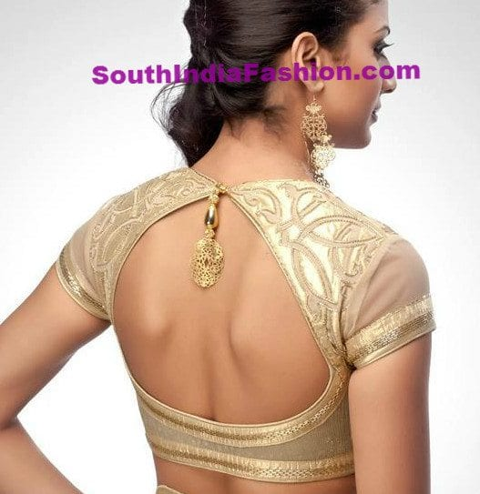 Blouse Back Neck Designs Catalogue. There are few such neckline designs which are evergreen, like U-shape, V-shape, deep back, dori etc. But there are few such neck patterns which comes in trend and last for a very long time and then fades away from fashion.