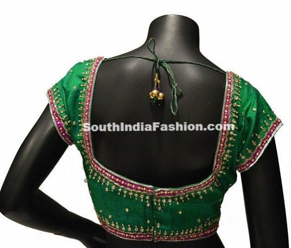 green bridal blouse