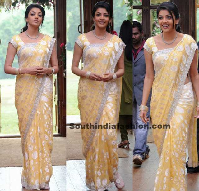Kajal Agarwal in Polka Dots Saree