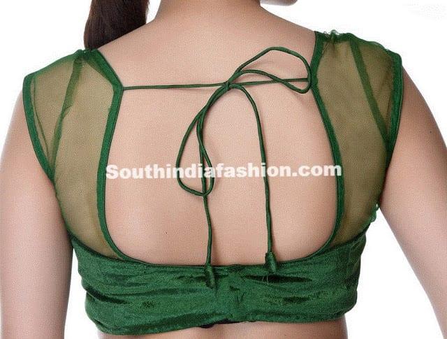 readymade green saree blouse