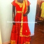 Ravishing Red Anarkali by Sagar Tenali