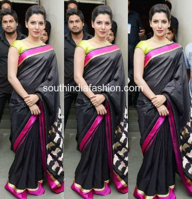 samantha saree at tollywood channel launch