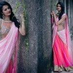 Pink Half Saree by Bhargavi Kunam