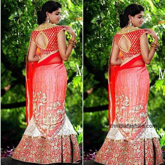 mugdha art studio bridal half saree