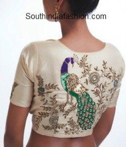 peacock blouse