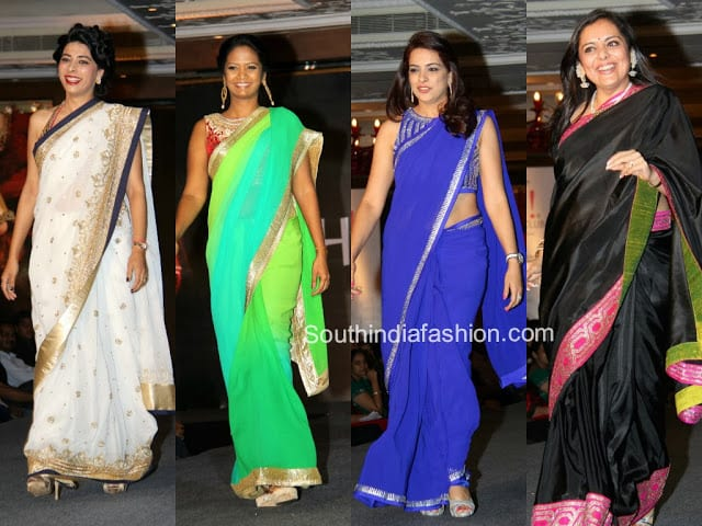 sarees fashion show