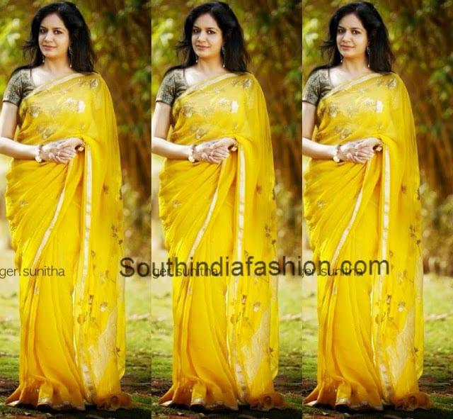 sunitha singer saree