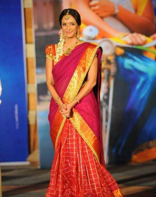 Lakshmi Manchu In Half Saree South India Fashion