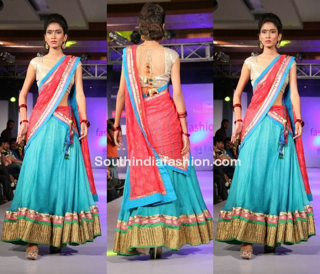 New half saree fashion 9