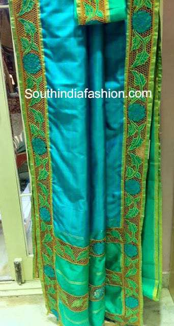 Silk Cut Work Sarees