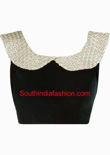 Collar neck saree blouse
