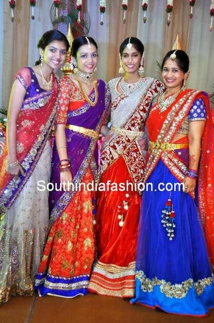 designer half sarees for teenagers