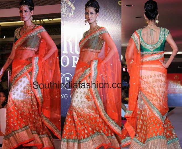 bridal half saree