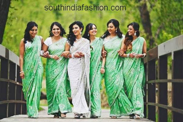 beautiful bridesmaid sarees