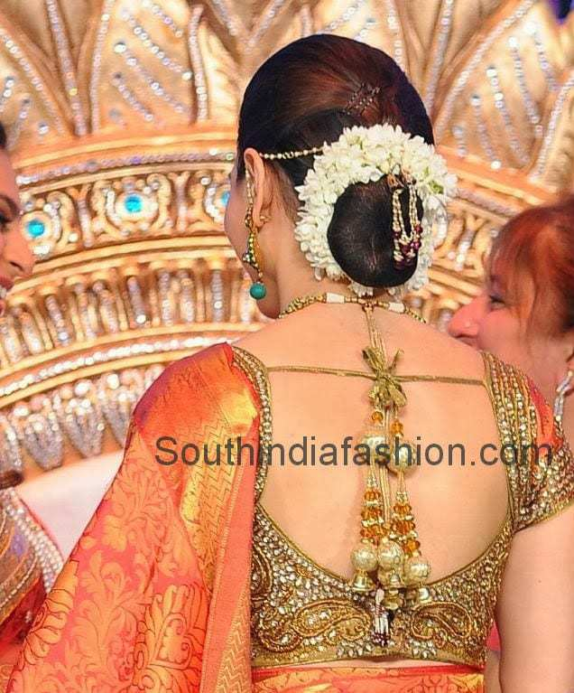 bridal saree blouse with stone work