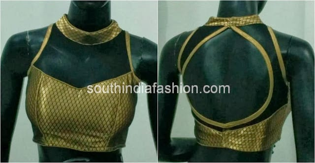 blouse back neck models 2014