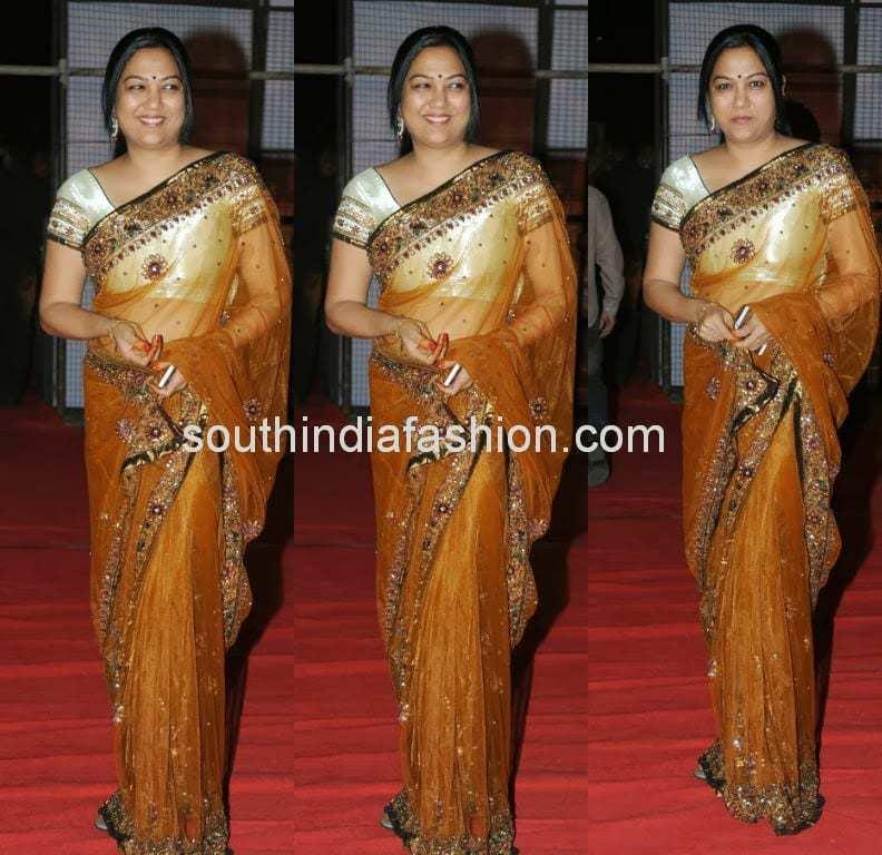 celebrity sarees 2014