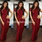 Kajal Agarwal in Plain Saree