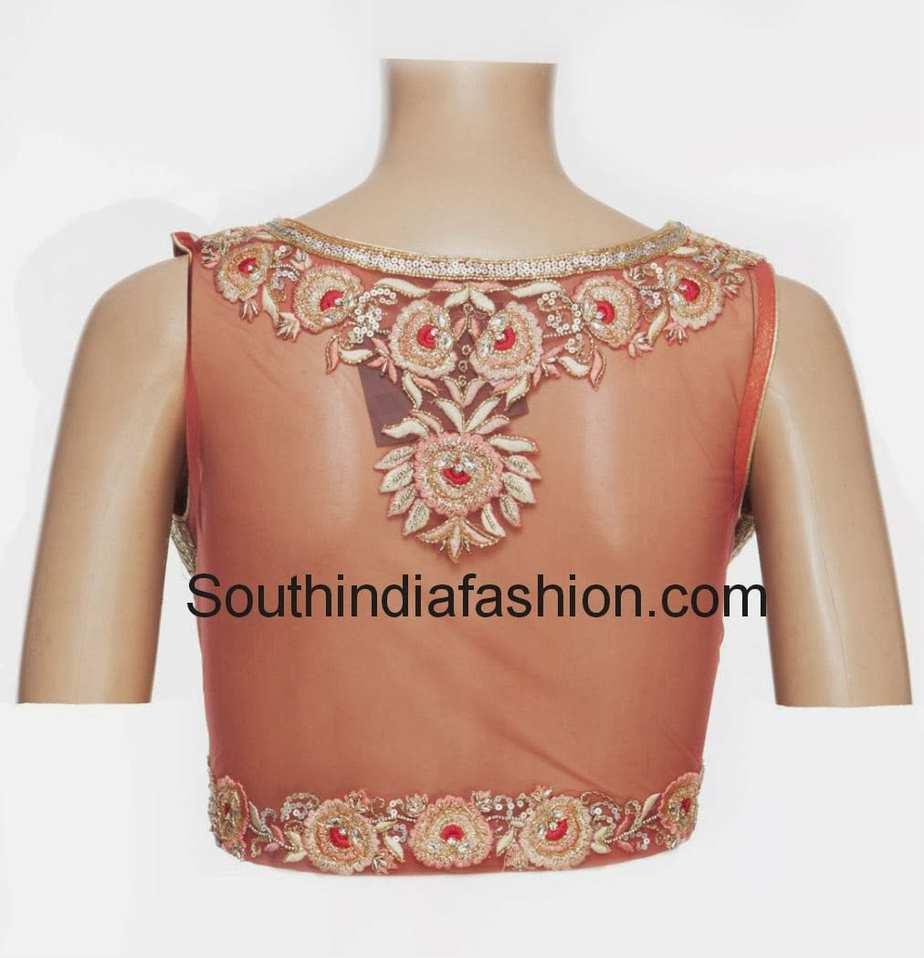 net saree blouse